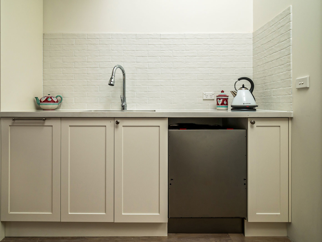 Berowra builder for home extension - cheery kitchen nook
