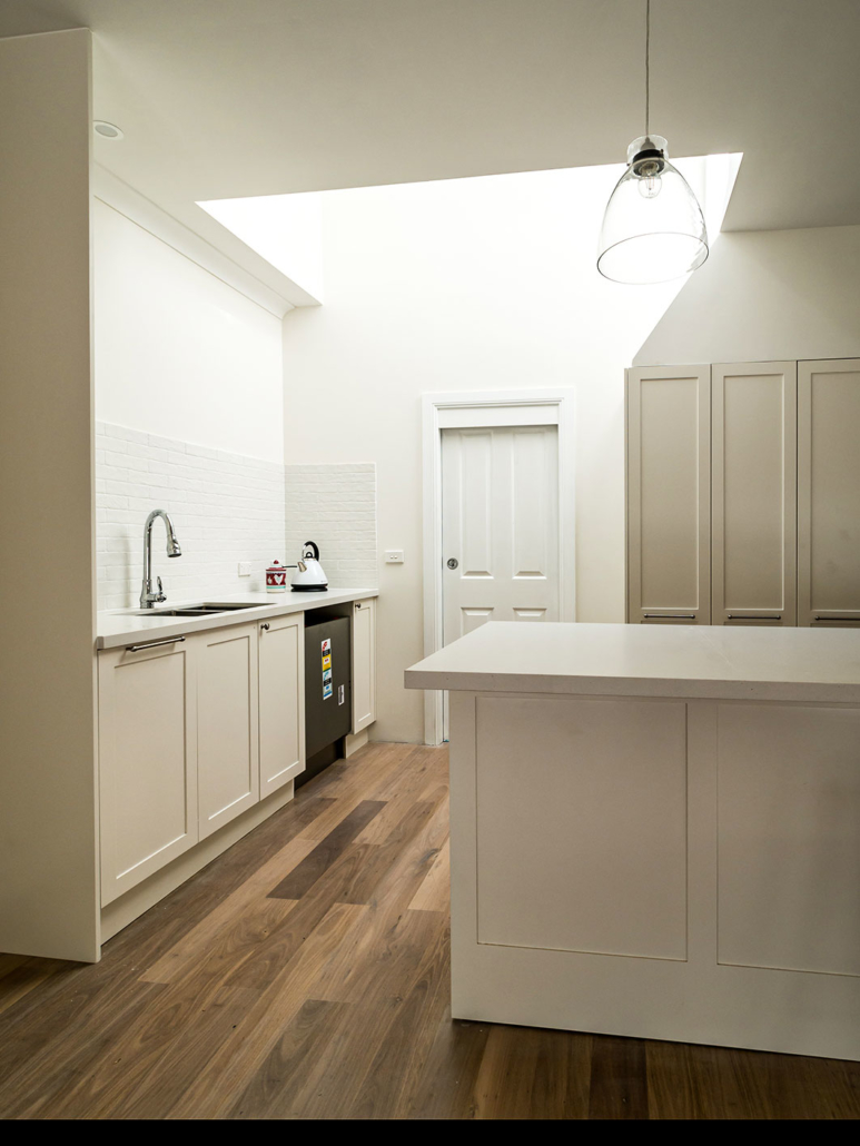 Berowra builder for home extension - kitchen nook with custom skylight