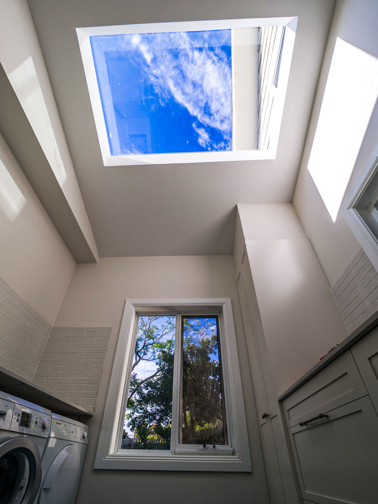 Berowra builder for home extension - laundry with oversize skylight