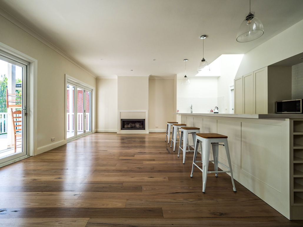 Berowra builder for home extension - living and kitchen