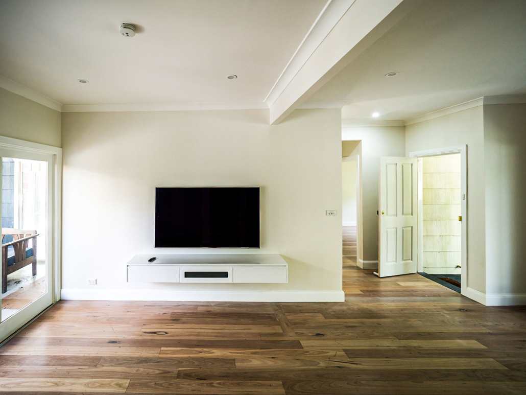 Berowra builder for home extension - living with gas fireplace