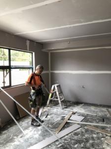 Gyprocking a major renovation